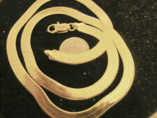 bling gold plated 4.5 mm 24in herringbone chain hip hop necklace thug pimp gang