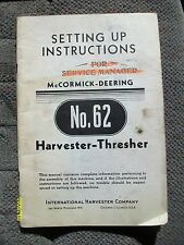 Original Vintage 1946? IH McCormick Deering Harvester Thresher Instructions