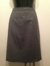 Pure New Wool Grey Ladies Tailored straight pencil skirt from M&S size 16