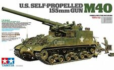 TAMIYA 35351 - 1/35 US SELF-PROPELLED 155mm GUN M40 MIT FIGUREN - NEU
