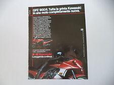 advertising Pubblicità 1984 MOTO KAWASAKI GPZ 900 R