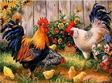 Neu 5D DIY Diamant Painting Farm Chicken Coop Embroidery Cross Stitch Kit Decor