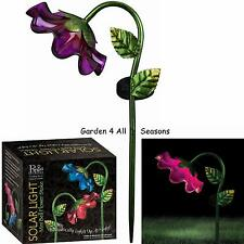PINK Mini BELL FLOWER Solar Light Garden Stake Creekwood Regal Art & Gift Boxed