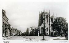 St Margaret's Church King's Lynn (B) unused RP old postcard Good cond Lilywhite