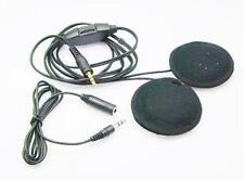 Motorbike Helmet Speakers Headphones 3.5mm Volume Control. Long Cable. UK seller