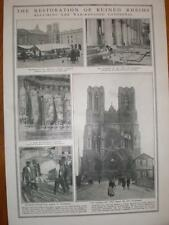 Photo article repairing Rheims Cathedral France 1921
