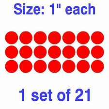 "Dot Circle Decal Vinly Sticker Polka 1"" 1.5"" 2"" 2.5"" 3"" 3.5"" 4"" 4.5"" 5"" 5.5"""