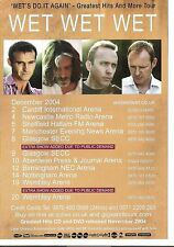 WET WET WET 2004 Tour UK FLYER / mini Poster 8x6 inches