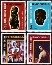 Rhodesia 1967 ** Mi.62/65 Gemälde Skulpturen Rodin Crippa Tossini [sp1053]