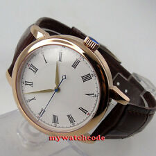 40mm corgeut white sterile dial rose gold case miyota Automatic mens Watch D25