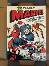 Taschen 75 YEARS OF MARVEL Comics Book AUTOGRAPHED by Stan Lee & Roy Thomas