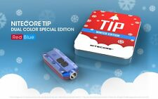 Holiday Gift Set: Nitecore Tip Winter Edition Rechargeable Key Light-Red/Blue