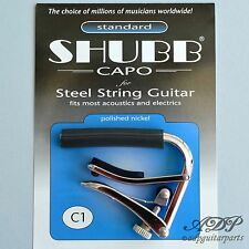 CAPODASTRE SHUBB C1 electric / acoustic guitar capo, NICKEL Finish