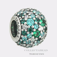 Authentic Pandora Silver Ocean Mosaic Pave Bead  791261MCZMX