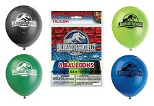 JURASSIC WORLD - 8 Latex BALLOONS - Birthday Party Decorations (Dinosaurs/Park)