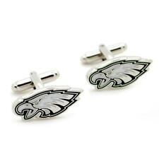 PHILADELPHIA EAGLES CUFFLINKS Football Sports NEW w GIFT BAG Pair Wedding Groom