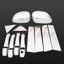 Chrome Door Handle+Pillar Post+Mirror Covers For Chrysler 300 / Dodge Magnum FM