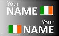 1 paire remis irlandais voiture de rallye autocollant nom autocollant Graphique Drapeau Irlande
