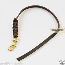 BENGO Leather Short Dog Training Leash 60cm -Schutzhund K9 Training Police Guard