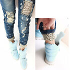 Sexy Women Stretch Pencil Pants Casual Slim Leopard Skinny Jeans Denim Trousers