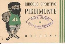 CIRCOLO SPORTIVO PIEDIMONTE- TENNIS LIZZANO BOLOGNA -TESSSERA-