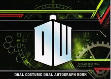 Doctor Who Extraterrestrial Encounters Dual Autograph Costume Book Doctor Jenny