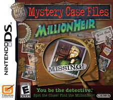 MYSTERY CASE FILES MILLIONHEIR KIDS GAME NINTENDO DS DS LITE 3DS 2DS DSI 3DS XL