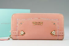 Authentic Samantha Thavasa Long Wallet Leather Pink Petit Choice w/box 617k14