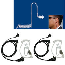 2 x Mic Covert Acoustic Tube EARPIECE HEADSET For Motorola Radio Security 2 PIN