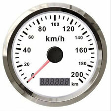 GPS Speedometer Stainless Waterproof Gauge 200KM/H for Car Truck 85mm 12V/24V