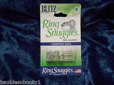 BLITZ Ring Snuggies USA Clear Adjuster Assorted Sizes NONTOXIC Rubber/Silicone