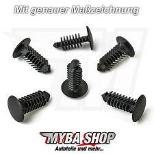 15x Universal plastica Tannenbaum clip in nero | 14 mm X 22,6 mm