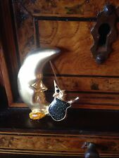 Rare! Vintage Witch Moon Brooch Spilla Strega Luna  Hallowen