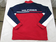 Tommy Hilfiger Zip Up Fleece Spell Out Jacket Navy/Red/White Men's Size XL m269
