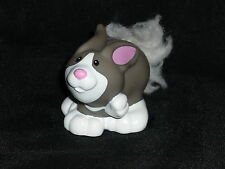 Fisher Price Little People Touch N Feel Gray Farm Rabbit