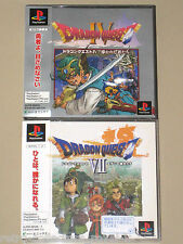 *Complete* PS1 RARE RPG DRAGON QUEST IV + VII / 4 & 7 NTSC-J Japan PlayStation