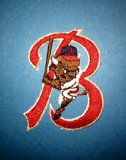 Vintage Buffalo Bisons AAA Minor Leauge Baseball Iron On Hat Patch Crest