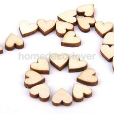 80 x Blank Wooden 10mm Hearts - Craft Embellishments, Scrapbook