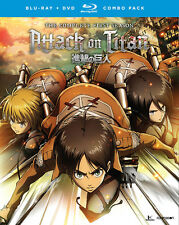 Attack on Titan: The Complete First Season (BD/DVD, 2017, 8-Disc Set)