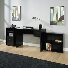 Desk Home Office Computer Furniture Wood Table Student Laptop Workstation Black