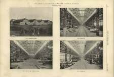 1900 Lugansk Locomotive Works South Russia Shops Weigh Bay Framing Bay