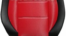 SELECT COLORS MIX L.CARBON FIBER AND SYNTHETIC TWO FRONT CUSTOM CAR SEAT COVERS
