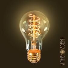 Edison Antique Replica Light Bulb Amber Globe 60W E26 USA Dimmable Tinted BF004