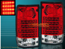 """1989-1995 """"L.E.D."""" TAIL LIGHTS LED PAIR RED FOR TOYOTA PICKUP 90 91 92 93 94"""