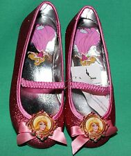 DISNEY PRINCESS AURORA PINK GLITTER COSTUME SHOE SZ 11/12 DISNEY SLEEPING BEAUTY