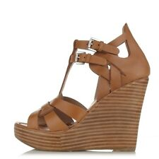 Matiko Lucia Leather Wedge, Natural SIZE 7