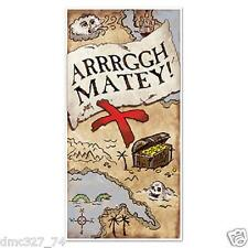 PIRATE Party Decoration Prop Arrrggh Matey! TREASURE MAP Door Cover Mural