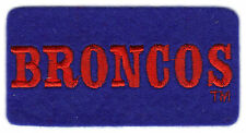 "DENVER BRONCOS NFL FOOTBALL 3.5"" TEXT TEAM LOGO PATCH"