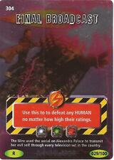 """Doctor Who Battles In Time Annihilator - Rare """"Final Broadcast"""" Card #304"""