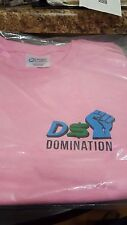 Womens Tee Shirt Large Short Sleeve Pink DSD DS Domination Logo Saying Dropship